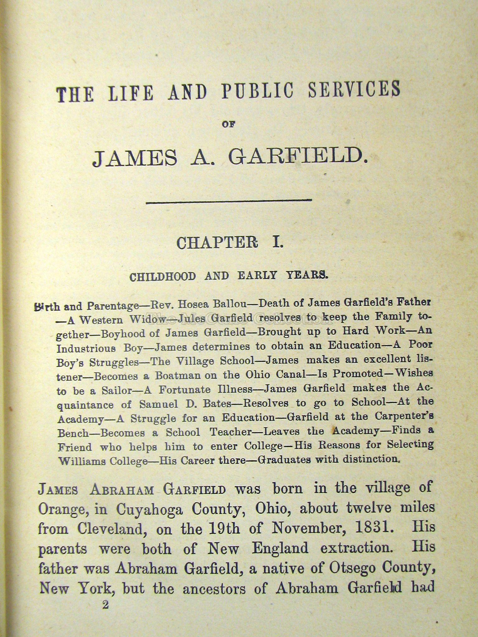 the life and death of james garfield
